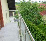 Balustrada nierdzewna szkło balkon