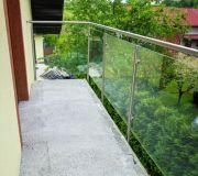 Balustrady balkonowe szklane