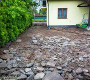 utwardzenie terenu pod podjazd gruz betonowy pierwsza warstwa