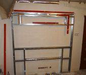budowa stelaża zabudowy kina domowego, konstrukcja z profili