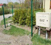 słupek ogrodzeniowy prostokątny zielony, panele ogrodzeniowe zielone