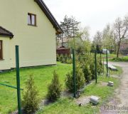 panele ogrodzeniowe ocynk, malowane, zielone, gotowe panele