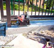 brama przesuwna betonowa stopa pod bramę