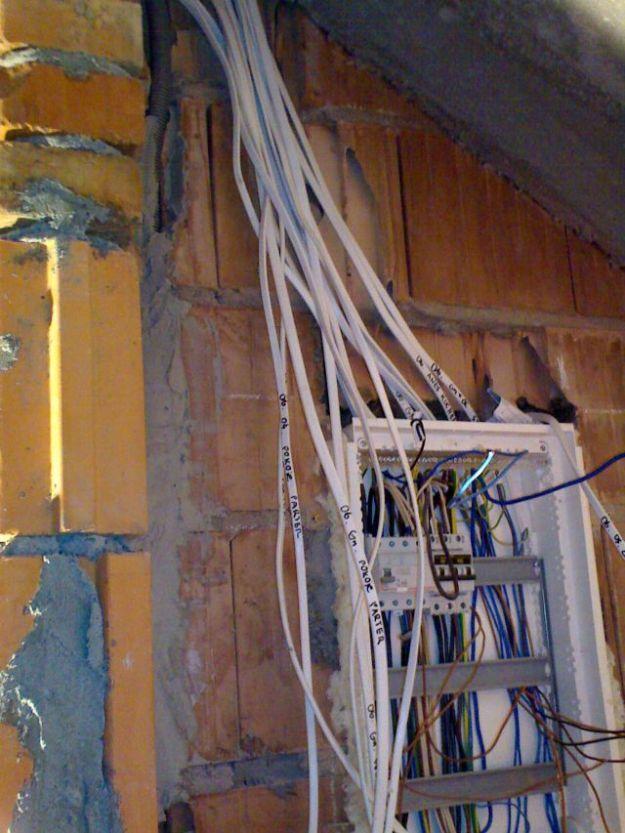 instalacja elektryczna, kable, bezpieczniki, rozdzielnia