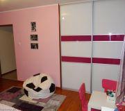 drzwi przesuwne lacobel różowo białe
