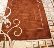 duży dywan kremowo brązowy