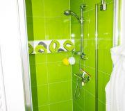 wnęka prysznicowa drzwi prysznicowe szklane koło