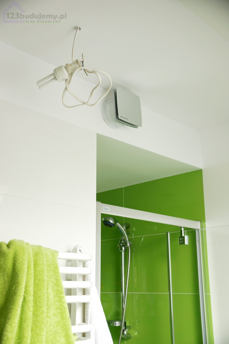 wentylacja mechaniczna w łazience, wentylator z czujnikiem wilgotności wilgoć, wentylacja