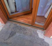 drzwi na balkon podwójne skrzydło