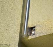 słupki aluminiowe montaż do płyty balkonowej