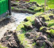 odwodnienie działki, woda z rynien do zbironika