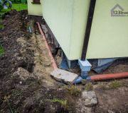 Odprowadzenie wody deszczowej z działki.