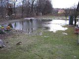 roztopy, działka zalana