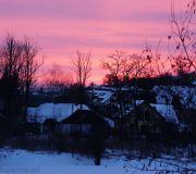 zachód słońca czerwone niebo nad naszą okolicą