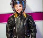 skórzana kurtka motocyklowa dla dziecka kaska dziecięcy
