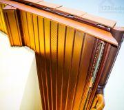Panele jednowarstwowe lub komorowe wykonane są z twardego PVC