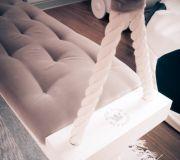 Arte Aria Artesania z obiciem welurowym deska huśtawka lina
