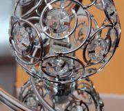 kulka kryształowa plafon lampa sufitowa