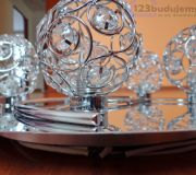 Lampa do sypialni kule kryształowe