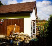projekt garażu dwustanowiskowego wolnostojący ze strychem