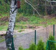 intensywne opady deszczu zalana działka