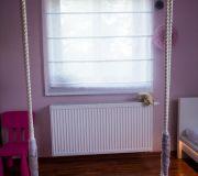 roleta rzymska różowy pokój dziewczynki