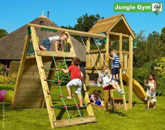 prywatny plac zabaw dla dzieci w ogrodzie. Black Bedroom Furniture Sets. Home Design Ideas
