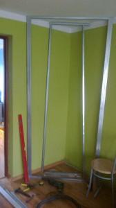 konstrukcja zabudowy półek z kg