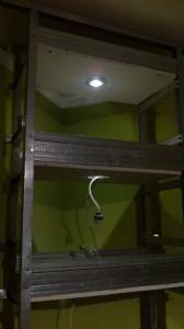 oświetlenie halogenowe w półce z regipsu
