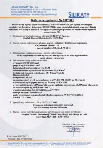 deklaracja SILIKAT N8