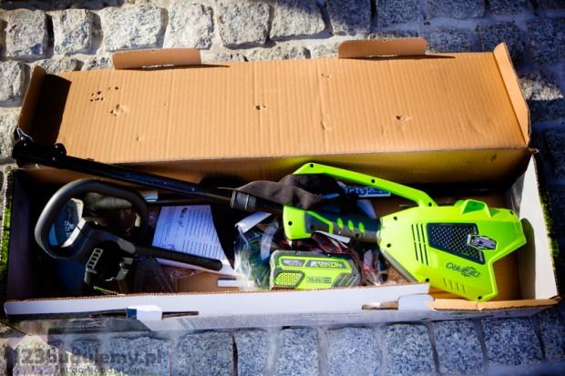 podkaszarka greenworks zestaw unboxing