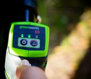 włącznik kosy greenworks przycisk turbo
