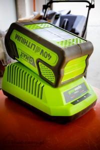 greenworks ładowanie baterii 40v