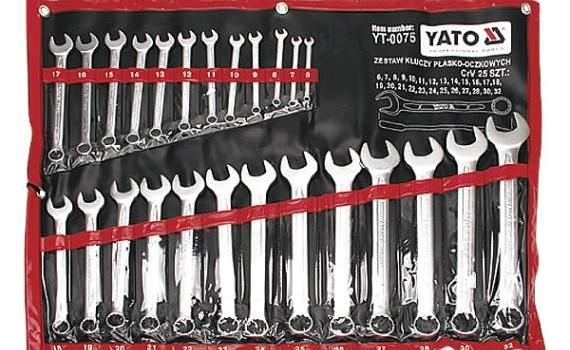 zestaw kluczy plaskich i oczkowych yato