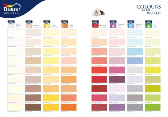 Dulux Kolory Świata paleta kolorow opinie