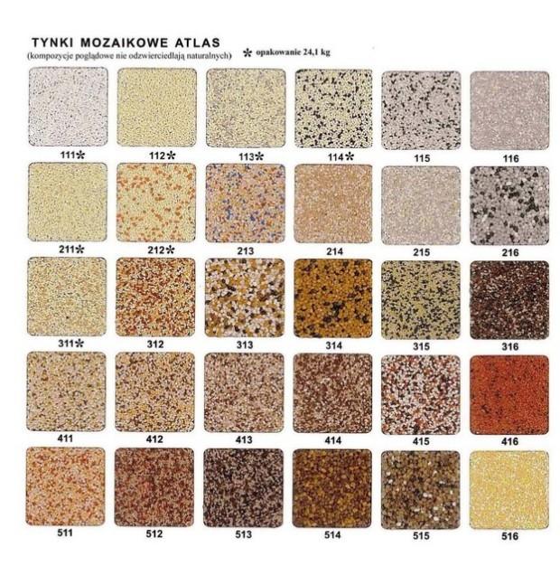 atlas tynk mozaikowy deko m tabela kolorów