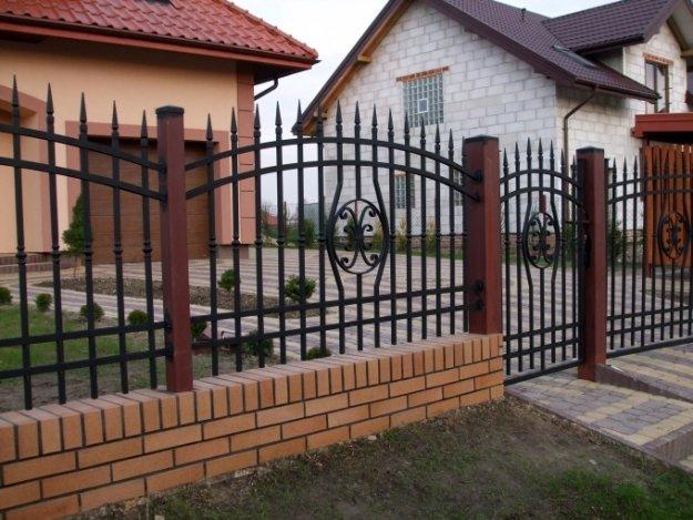 ogrodzenie z przeseł kutych