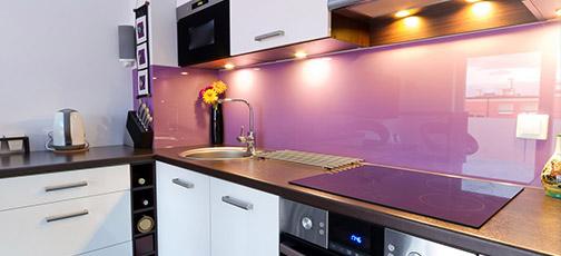 szkło w kuchni aranżacje