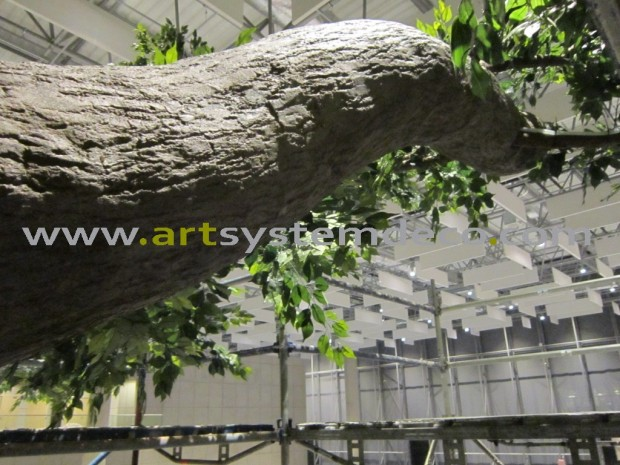 Fragmen budowy sztucznego drzewa