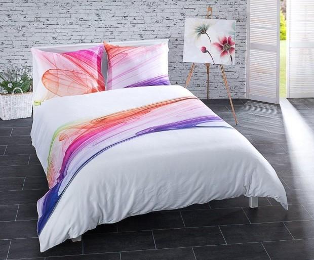 nowoczesna pościel w nowoczesnym wnętrzu sypialni