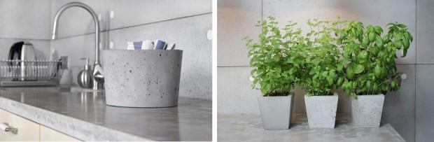 dodatki do wnętrz z surowego betonu