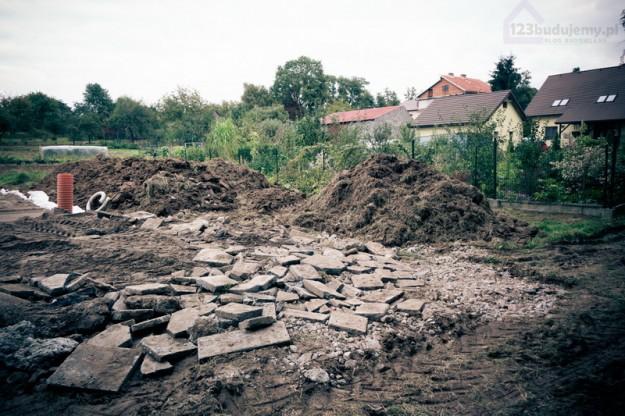 przygotowanie terenu pod płytę fundamentową