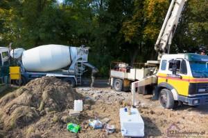 gruszka z betonem pompa do betonu
