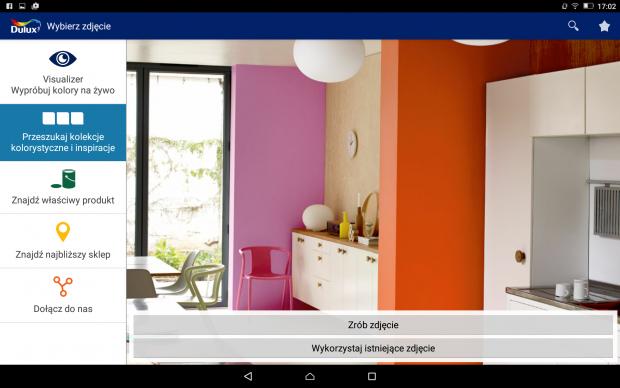 DULUX Visualizer dobieranie kolorów