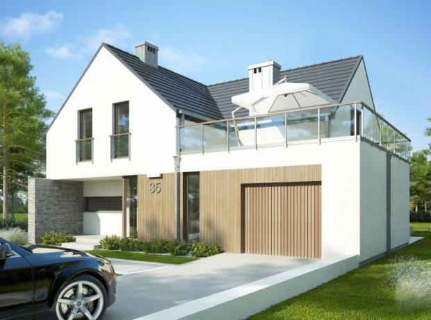 taras na dachu inspiracje projekt domu