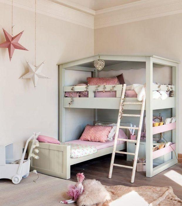 sypialnia dla dzieci piętrowe łóżko