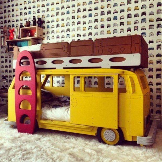 pomysł na piętrowe łóżko