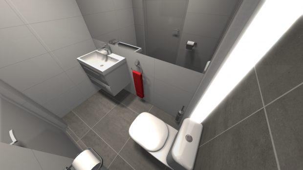 projekt wc w małym mieszkaniu