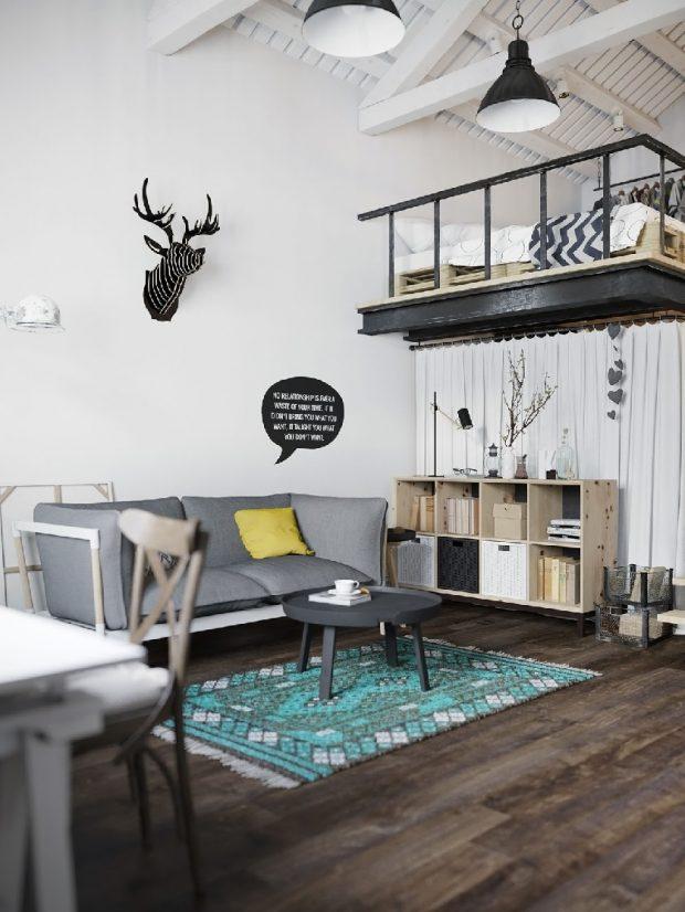 nowoczesne wnętrza w stylu skandynawskim