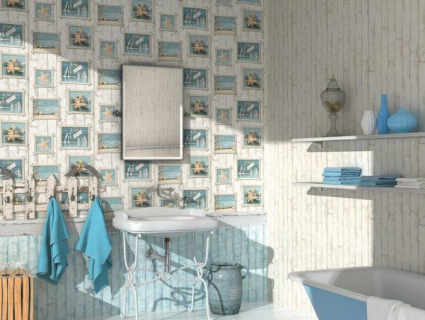 tapety w łazience
